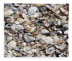 Seashells On The Beach Fleece Blanket