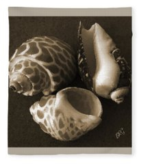 Seashells Spectacular No 1 Fleece Blanket