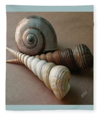 Seashells Spectacular No 29  Fleece Blanket