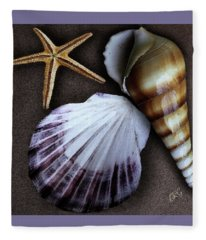 Seashells Spectacular No 37 Fleece Blanket