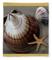 Seashells Spectacular No 38 Fleece Blanket