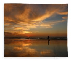 Seaside Reflections Fleece Blanket