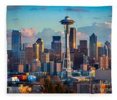 Seattle Afternoon Fleece Blanket