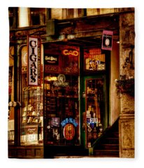 Seattle Cigar Shop Fleece Blanket