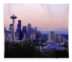 Seattle Dawning Fleece Blanket