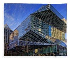 Seattle Library Fleece Blanket