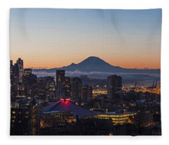 Seattle Morning Glow Fleece Blanket