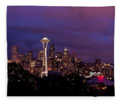 Seattle Night Fleece Blanket