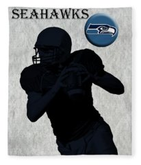 Seattle Seahawks Football Fleece Blanket