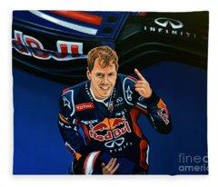 Sebastian Vettel Fleece Blanket