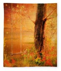 Secret Gardens Fantasy Fleece Blanket