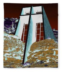 Sedona Rock Church Fleece Blanket