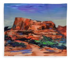 Courthouse Butte Rock - Sedona Fleece Blanket