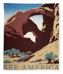 See America - Cowboys Fleece Blanket
