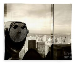 See New York City Usa Fleece Blanket