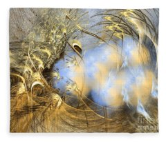 Seeds Of Peace -abstract Art Fleece Blanket