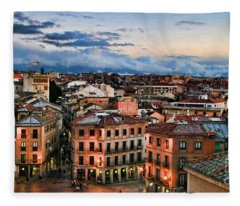Segovia Nights In Spain By Diana Sainz Fleece Blanket