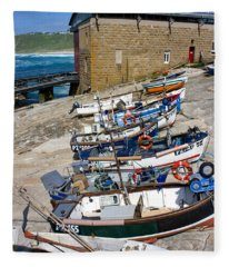 Sennen Cove Fishing Fleet Fleece Blanket