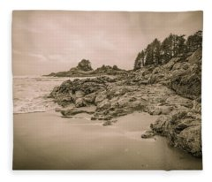 Cox Bay Sepia Fleece Blanket