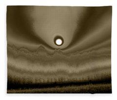 Sepia Sunrise Fleece Blanket