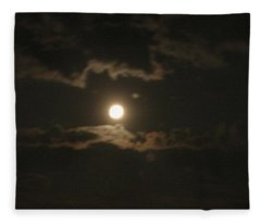 September Moonlight Fleece Blanket