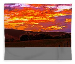 September Smokies Sunrise Fleece Blanket