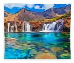 Serene Green Waters Fleece Blanket