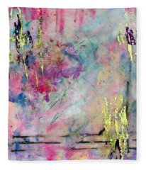 Serene Mist Encaustic Fleece Blanket