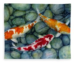 Serenity Koi Fleece Blanket