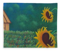 Sergi's Sunflowers Fleece Blanket