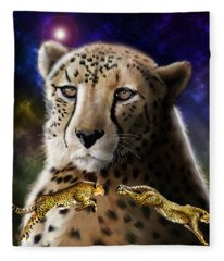 First In The Big Cat Series - Cheetah Fleece Blanket