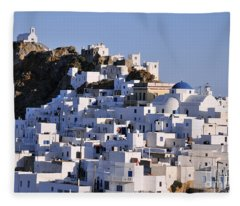 Serifos Town Fleece Blanket