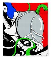 Serpent Of Time Fleece Blanket