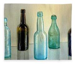 Seven Old Bottles Fleece Blanket