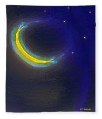 Seven Stars And The Moon Fleece Blanket