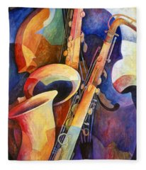 Saxophone Fleece Blankets