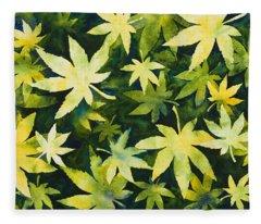 Shades Of Green Fleece Blanket