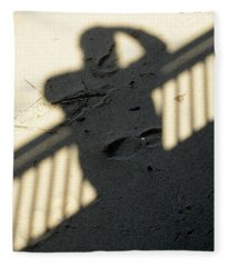Shadow In The Sand Fleece Blanket