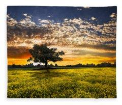 Shadows At Sunset Fleece Blanket