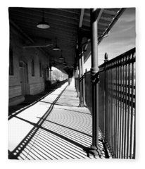 Shadows At The Station Fleece Blanket