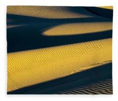 Shadows Deepen On A Summer Evening Fleece Blanket