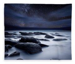 Shadows Of The Night Fleece Blanket