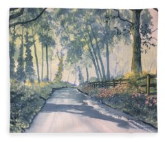 Shadows On The Setterington Road Fleece Blanket
