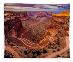 Shafer Trail Horizontal Fleece Blanket
