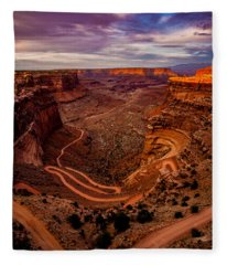 Shafer Trail Vertical Fleece Blanket