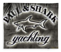 Shark Sign Fleece Blanket