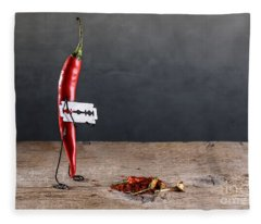Sharp Chili Fleece Blanket