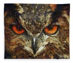 Sharpie Owl Fleece Blanket
