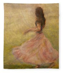 She Dances With The Rain Fleece Blanket