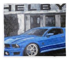Shelby Mustang Fleece Blanket